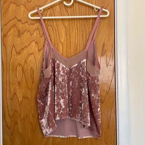 Zara Tops - Zara // pink velvet cami